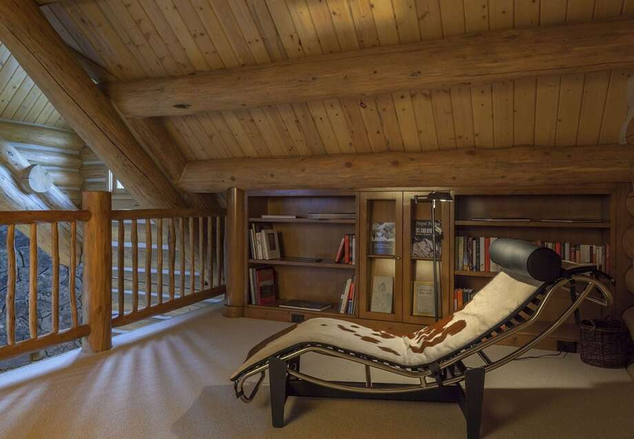 Loft in new cabin. All photos via  Hall and Hall. http://hallhall.com/ranches-for-sale/properties/pioneer-moon-ranch