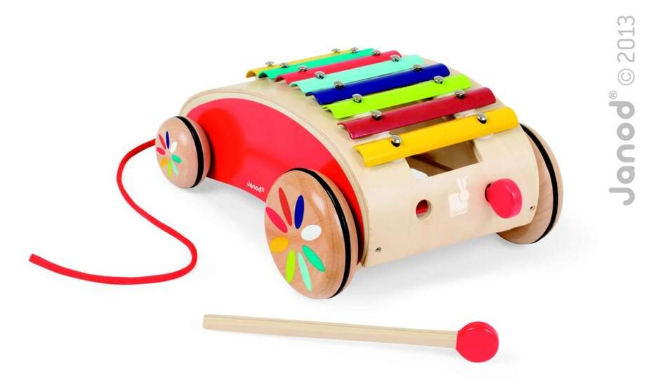Early playTatoo Xylo Roller by Juratoys US (Janod). 18-plus months, $40.  The xylo roller allows children to play xylophone on the go.