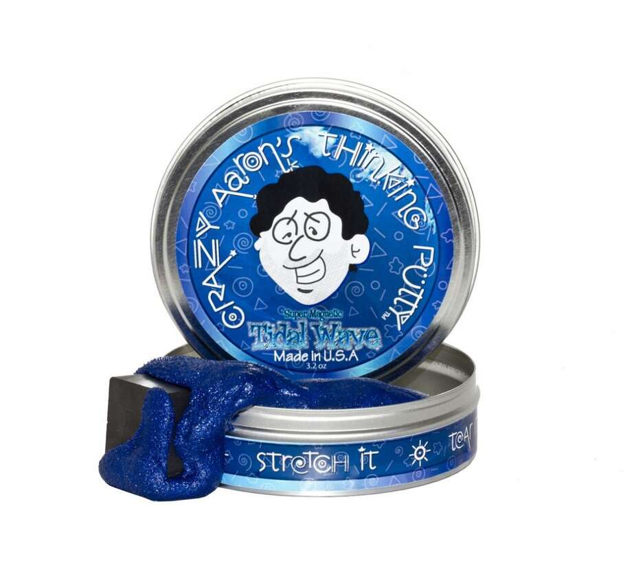 Just for funSuper Magnetic Tidal Wave Thinking Putty by Crazy Aaron's Puttyworld. 8-plus years, $15.  This pliable putty is a deep iridescent blue and comes with a large ceramic magnet that is safe for children 8 years and older.