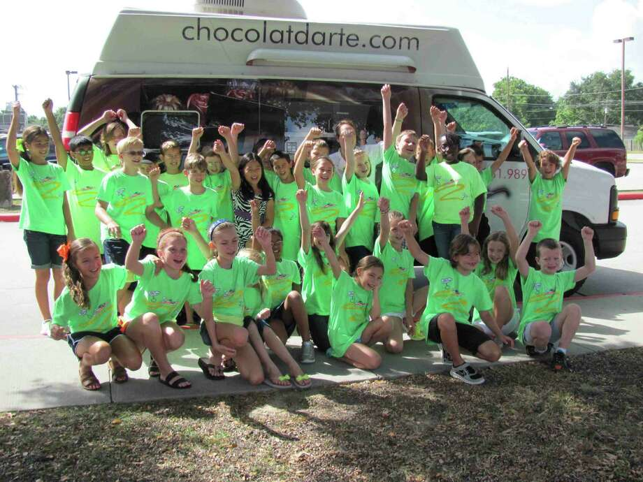 Nancy Burke's chocolate van was a big hit with these campers. Photo: Friendswood Independent School District