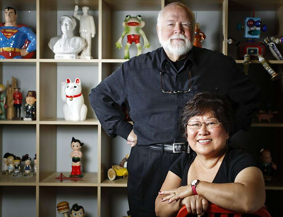 Kit Hinrichs and Delphine Hirasuna are seen at Hinrichs Studio on Wednesday, July 31, 2013 in San Francisco, Calif. Photo: Russell Yip, The Chronicle