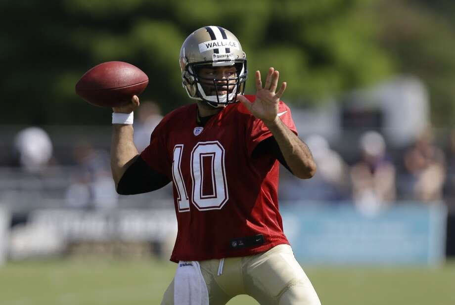 New Orleans Saints quarterback Seneca Wallace (10) during their NFL football training camp in Metairie, La., Monday, July 29, 2013. Photo: Gerald Herbert, Associated Press