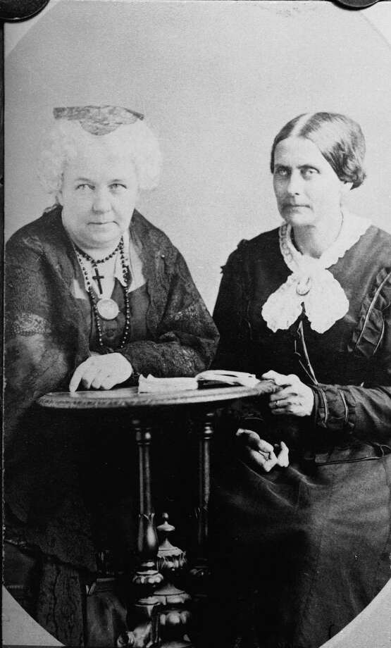 Suffragettes Susan B. Anthony (1820 - 1906) and Elizabeth Cady Stanton (1815 - 1902) led the charge in fighting for women's right to vote. They formed the National Woman Suffrage Association in 1869. Photo: Kean Collection, Getty Images / 2003 Getty Images