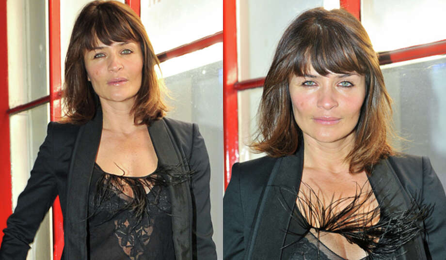 Misbehaving feathers (Helena Christensen)