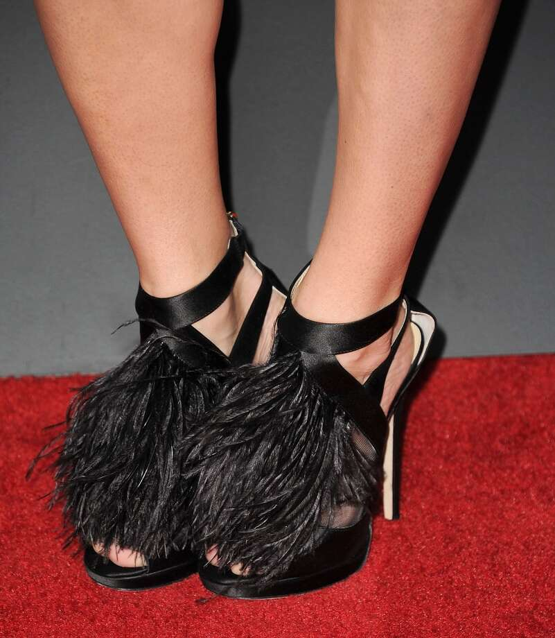 Shoe feathers (Jill Wagner) Photo: Steve Granitz, WireImage