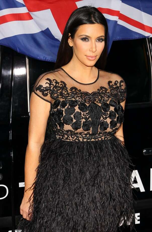 Baby bump feathers (Kim Kardashian) Photo: JB Lacroix, WireImage