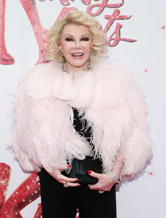 Cotton candy feathers (Joan Rivers) Photo: John Lamparski, WireImage
