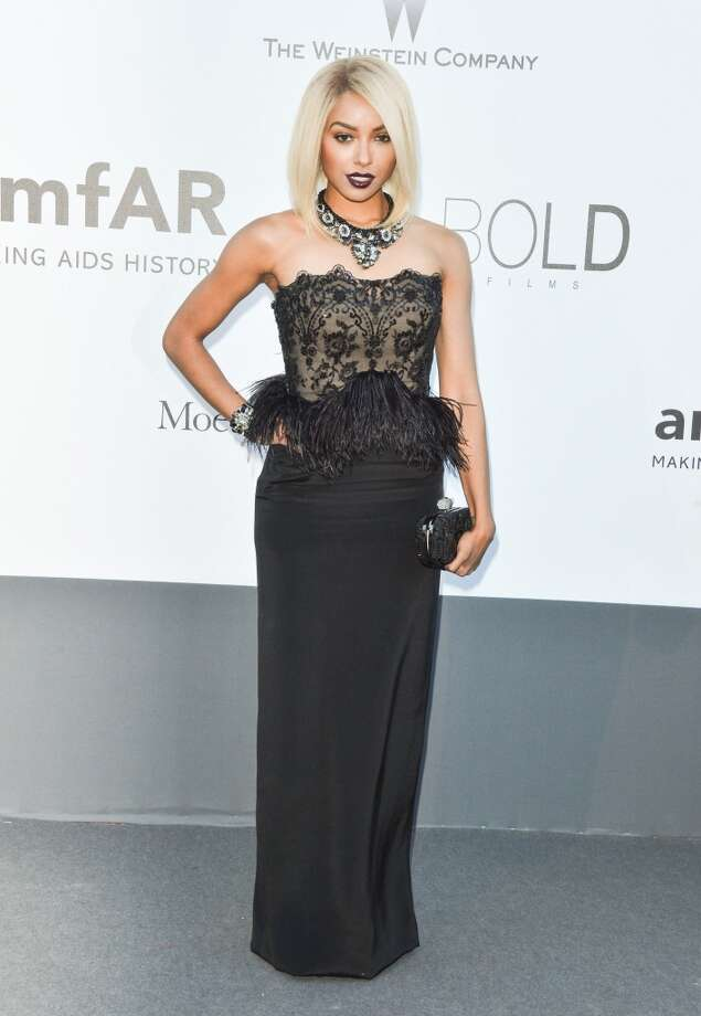 Feather peplum (actress Kat Graham) Photo: George Pimentel, WireImage