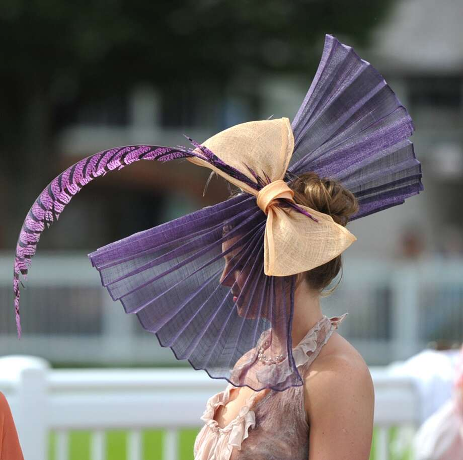 Outrageously pointy and purple feather Photo: Clodagh Kilcoyne, Getty Images