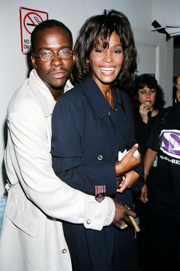 Bobby Brown and Whitney Houston during the 1995 MTV Video Music Awards. Photo: Jeff Kravitz, FilmMagic, Inc