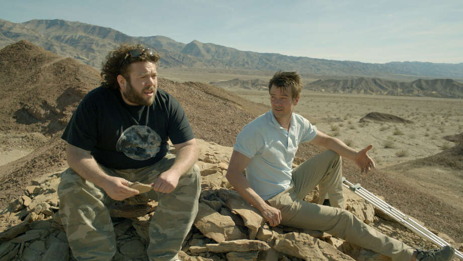 "Josh Duhamel (white shirt) and Dan Fogler (beard) star in ""Scenic Route."""