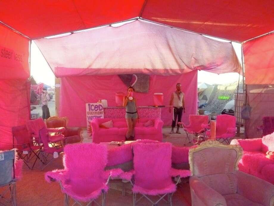 It's all pink inside.