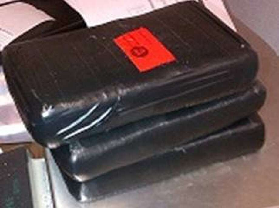 CBP officers seized 7.8 pounds of suspected cocaine at the Gateway International Bridge at Brownsville. Photo: Customs And Border Protection