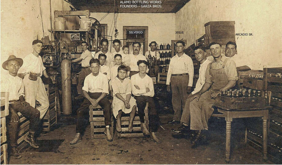Shown in 1929 at the original Alamo Bottling Works, brothers Silverio, Jesus and Arcadio Garza Sr. were the founders of the company that made Hippo soda. Photo: Courtesy Arthur S. Rodriguez