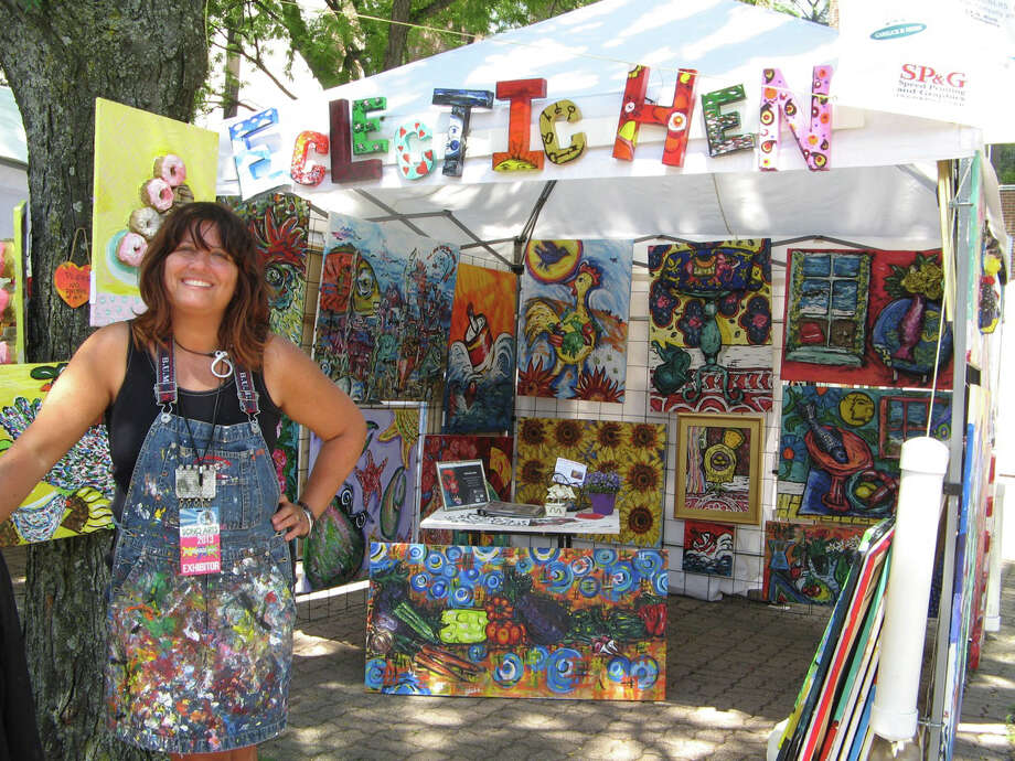 Contemporary artist Ronet Noe, of Milford, will paint on location at the 40th annual Labor Day Weekend/Meet the Artists and Artisans show in Mystic. Photo: Contributed Photo