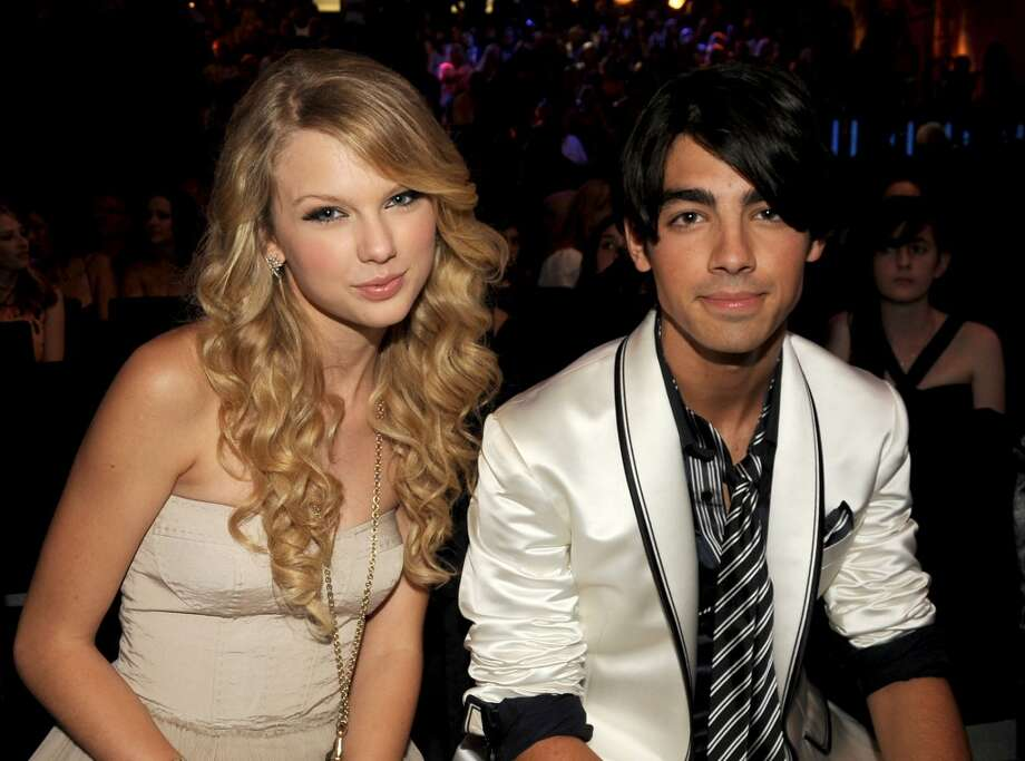 Singers Taylor Swift and Joe Jonas at the 2008 MTV Video Music Awards. Swift says Jonas dumped her in a 27-second phone call. We do know she wrote a lot of breakup songs about him. Photo: Jeff Kravitz, FilmMagic