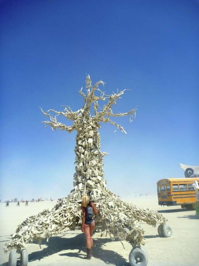 This is the Tree of Life. It's included here because I included an almost identical pic from probably 12 years ago when I wrote about Burning Man for the first time, and the tree was there, too. Quintessential Burning Man.