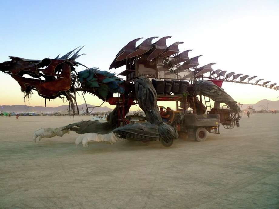 Wicked dragon art car thing. Lots of dragons this year. Some super cute, some clever, some badass. Guess which one this is.