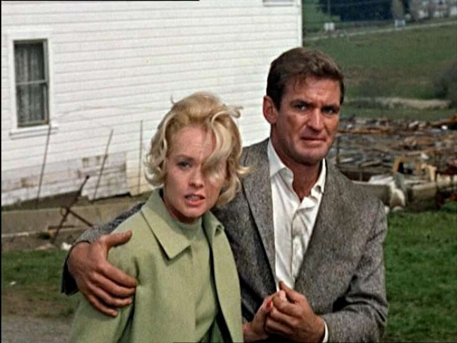 "Rod Taylor and Tippi Hedren in Alfred Hitchcock's ""The Birds."" The 1963 picture is set in the Bay Area. Photo: Universal Pictures 1963"