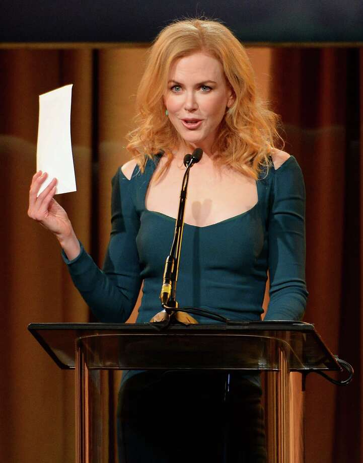 Actress Nicole Kidman speaks onstage at the Hollywood Foreign Press Association's 2013 Installation Luncheon at The Beverly Hilton Hotel on Aug. 13, 2013 in Beverly Hills, Calif. Photo: Mark Davis, Getty Images / 2013 Getty Images