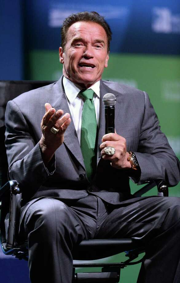 Actor and former California Gov. Arnold Schwarzenegger speaks during the National Clean Energy Summit 6.0 at the Mandalay Bay Convention Center on Aug. 13, 2013 in Las Vegas, Nevada. Political and economic leaders are attending the summit to discuss a domestic policy agenda to advance alternative energy for the country's future. Photo: Ethan Miller, Getty Images / 2013 Getty Images