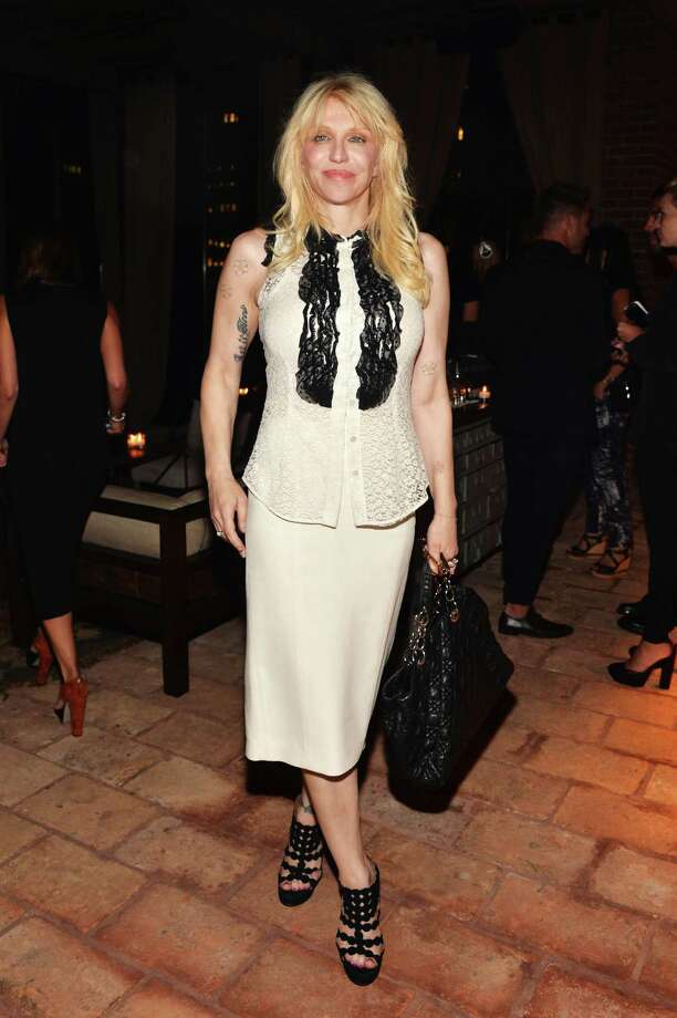 "Courtney Love attends the Downtown Calvin Klein with The Cinema Society screening of IFC Films' ""Ain't Them Bodies Saints"" after party at Refinery Rooftop on Aug. 13, 2013 in New York. Photo: Andrew H. Walker, Getty Images / 2013 Getty Images"