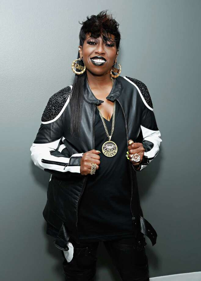 Recording artist Missy Elliott poses backstage at BET's '106 and Park' at BET Studios on Aug. 14, 2013 in New York. Photo: Cindy Ord/BET, Getty Images For BET / 2013 Cindy Ord/BET