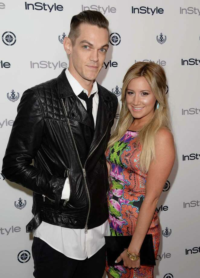 Actress Ashley Tisdale and Christopher French attend the InStyle Summer Soiree held Poolside at the Mondrian hotel on Aug. 14, 2013 in West Hollywood, Calif. Photo: Jason Merritt, Getty Images / 2013 Getty Images