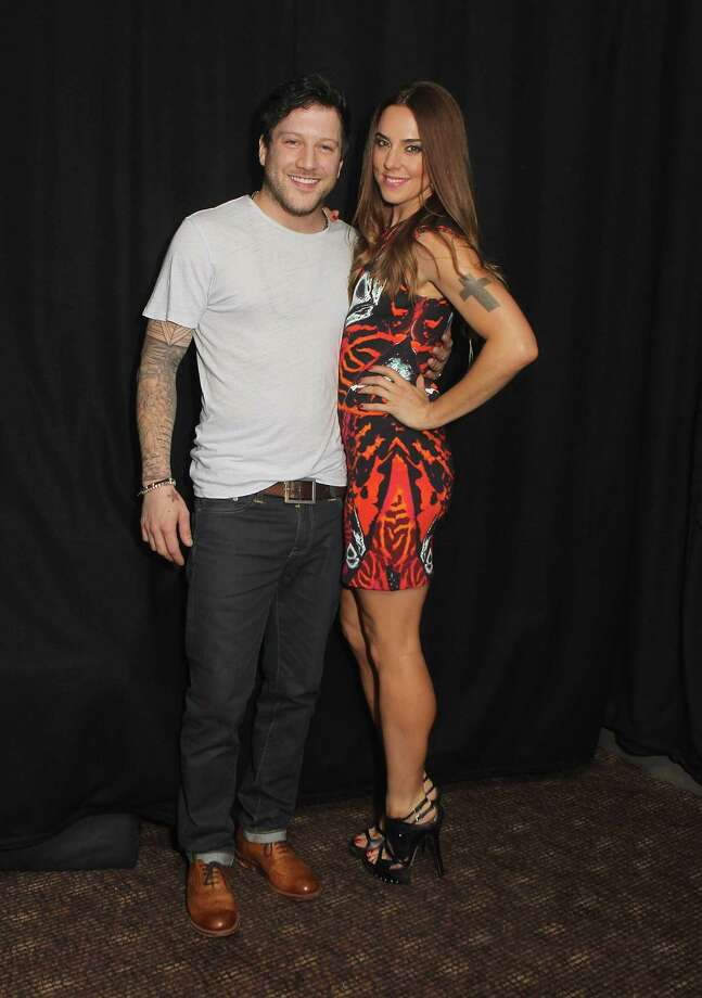 Matt Cardle and Melanie Chisolm pose backstage at G-A-Y on Aug. 17, 2013 in London. Photo: Jo Hale, Redferns Via Getty Images / 2013 Jo Hale