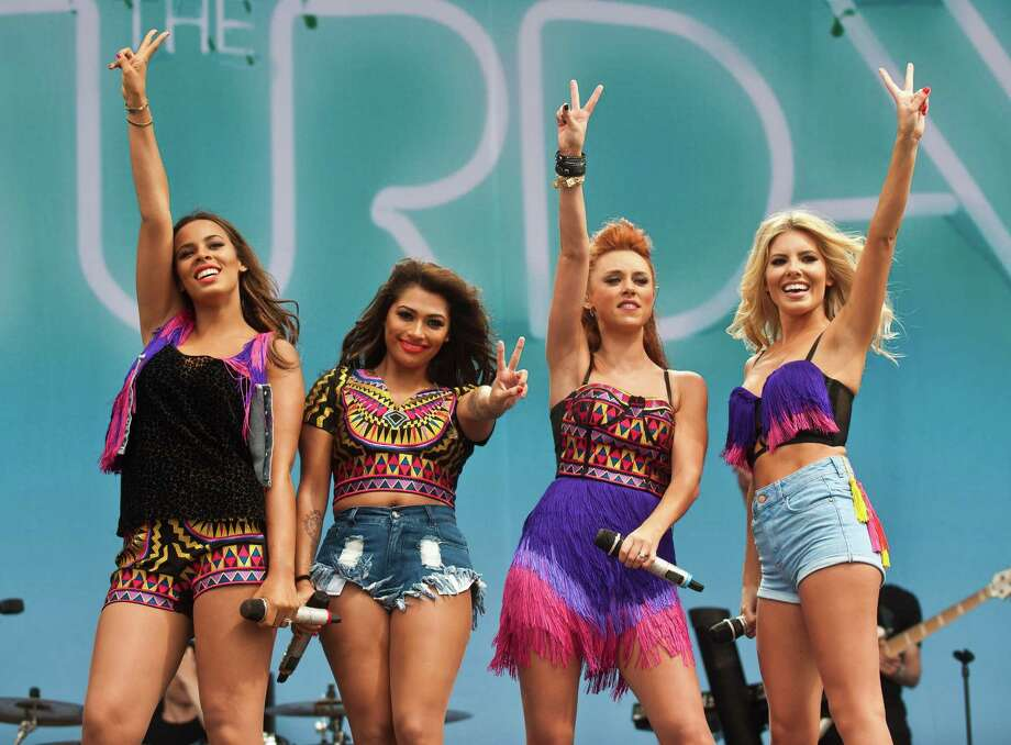 Rochelle Humes, Vanessa White, Una Healy and Mollie King of The Saturdays perform on day 2 of the V Festival at Hylands Park on Aug. 18, 2013 in Chelmsford, England. Photo: Rob Harrison, Getty Images / 2013 Getty Images