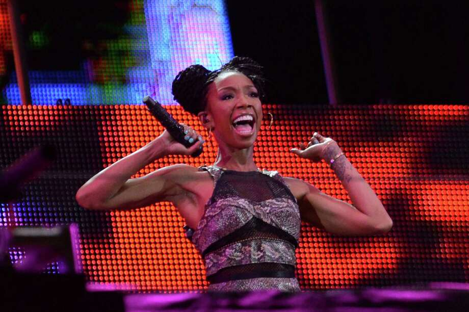 Brandy performs during the Nelson Mandela Sports & Cultural day music concert at the FNB Stadium on Aug. 17, 2013 in Soweto, South Africa. The event is a tribute to honour the life of former president Nelson Mandela. Nelson Mandela is still in the Medi-Clinic Heart Hospital in Pretoria in a critical but stable condition. Photo: Gallo Images, Getty Images / 2013 Gallo Images (PTY) LTD