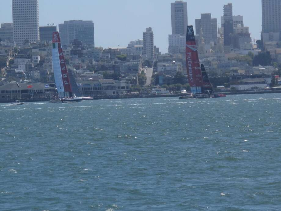 From VIP boat, Aug. 21, 2013; The streets of San Francisco, with boats in front yard Photo: Leah Garchik