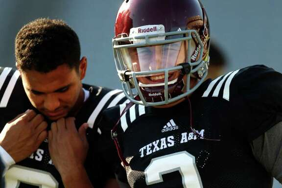 Matt Davis, left, decided to transfer after losing ground in the contest to serve as Johnny Manziel's backup.