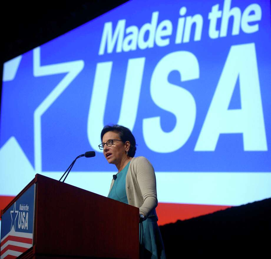 Commerce Secretary Penny Pritzker was among the officials at the manufacturing conference in Orlando. Photo: Phelan M. Ebenhack, FRE / FR121174 AP