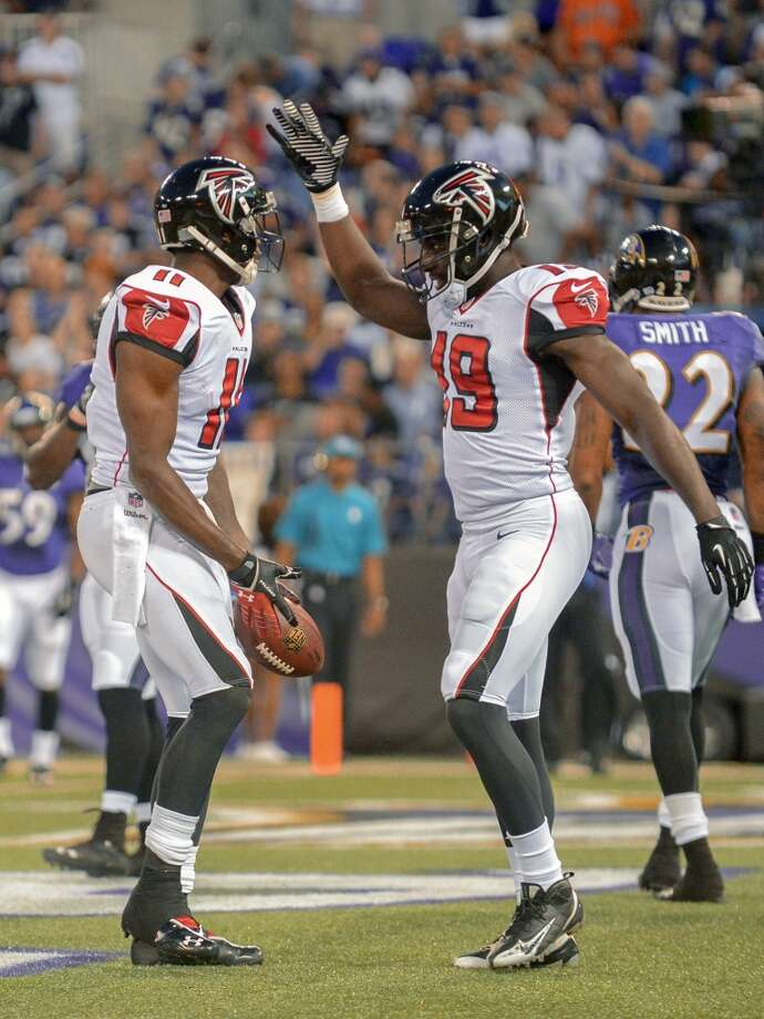 28. Atlanta FalconsAtlanta's uniforms seem like superhero outfits. Photo: DOUG KAPUSTIN, McClatchy-Tribune News Service