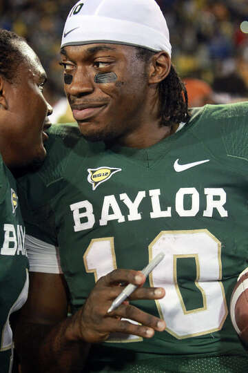 Baylor assigned a staff member to monitor sales of items autographed by Robert Griffin III in his He