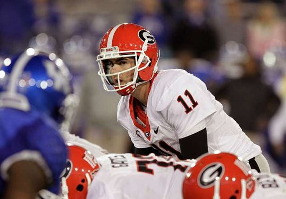 Georgia senior quarterback Aaron Murray, not Manziel, gets the preseason 1st-team nod from SEC head coaches. Photo: Garry Jones
