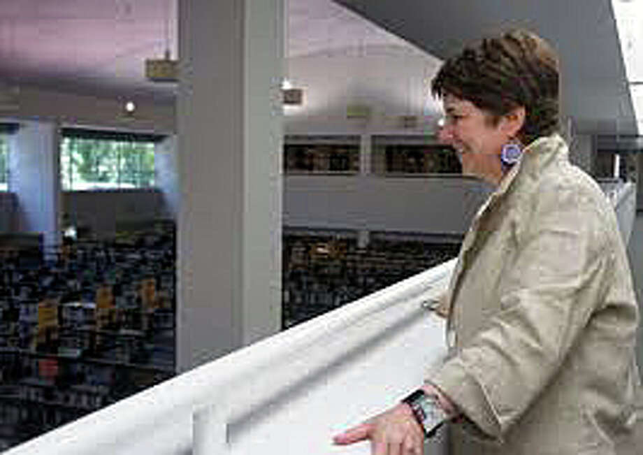 Westport Library Director Maxine Bleiweis surveys the Jesup Road insitution, which is one of the busiest in the state -- and visitors can learn why Saturday as the library hosts an open house from 2 to 4 p.m. to highlight the many programs and services that are offered there. Photo: File Photo / Westport News