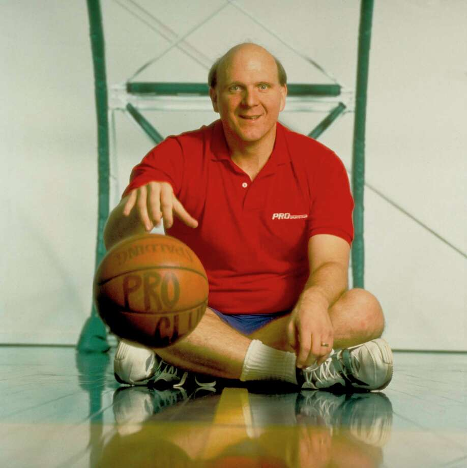 Ballmer, a longtime basketball fan, poses on a court in 1995, when he was executive vice president worldwide sales and support. Photo: Alan Levenson, Time & Life Pictures/Getty Image / Alan Levenson