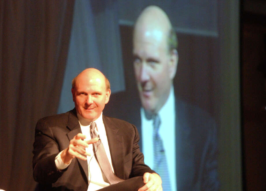 It's double Ballmer at the Can Win Summit at Toronto Liberty Grand Entertainment Complex in 2010. Photo: TORONTO STAR