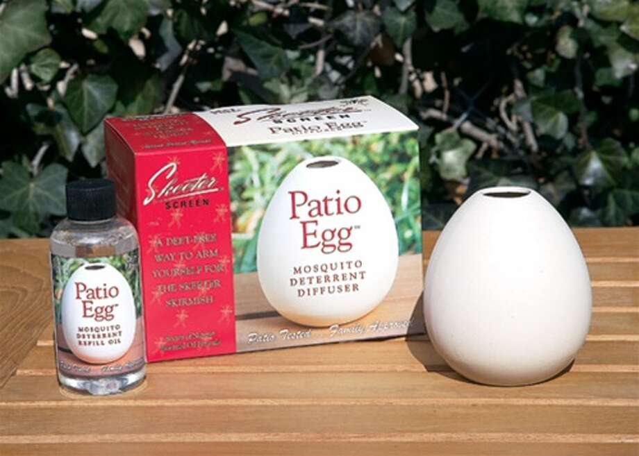 Mosquito repelling products.  Skeeter Screen Patio Egg by Scent Shop Photo: Courtesy Photos