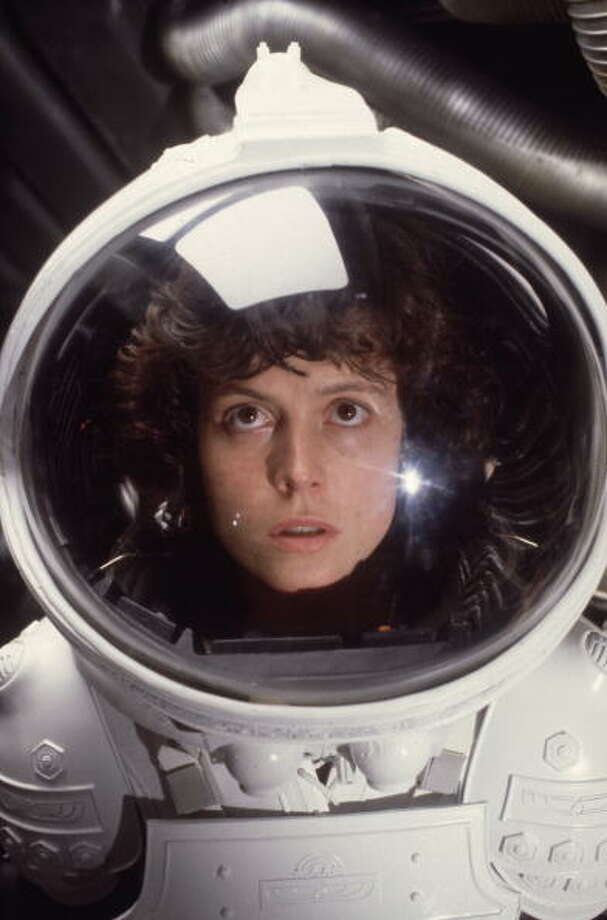 "Sigourney Weaver as Ripley in ""Alien"" – Sigourney Weaver did not look like your typical Hollywood scream queen. But little did audiences know that ""Alien"" was not your typical horror movie or creature feature. It burned slowly, letting tensions build until audiences were ready to pop. The role of Ripley, which would carry the film, required more than just another actress with a big bust and set of lungs. Photo: Hulton Archive, Getty Images / Moviepix"