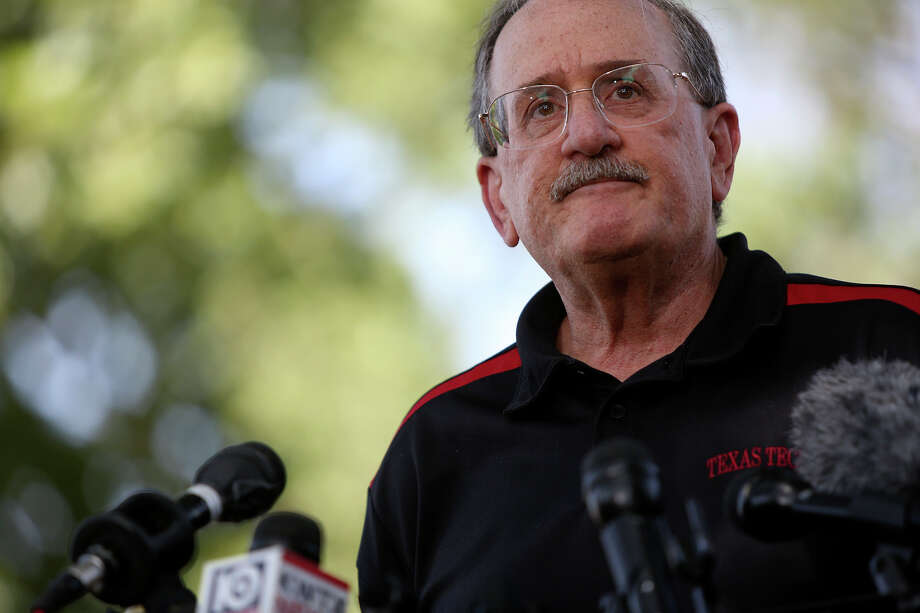 Richard Rosen, a Professor of Law at Texas Tech University and a former judge advocate at Fort Hood, talks to the media after the trial for Maj. Nidal Hasan was abruptly recessed at Fort Hood in Killeen on Wednesday, August 7, 2013. Photo: Lisa Krantz, San Antonio Express-News / San Antonio Express-News