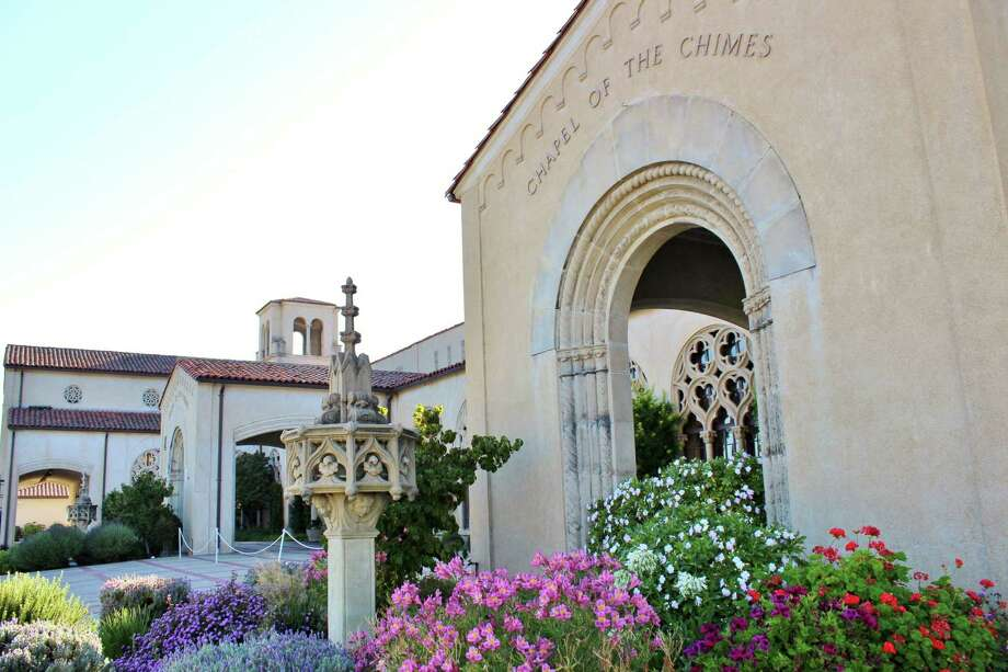 Chapel of the Chimes was completed in 1928, and it contains small rooms with book shaped urns, fountains, statues, cloisters and skylights. It is considered a must-see Bay Area artwork by Dena Beard, executive director of The Lab, a nonprofit in the Mission. Photo: Stephanie Wright Hession / Special To The Chronicle