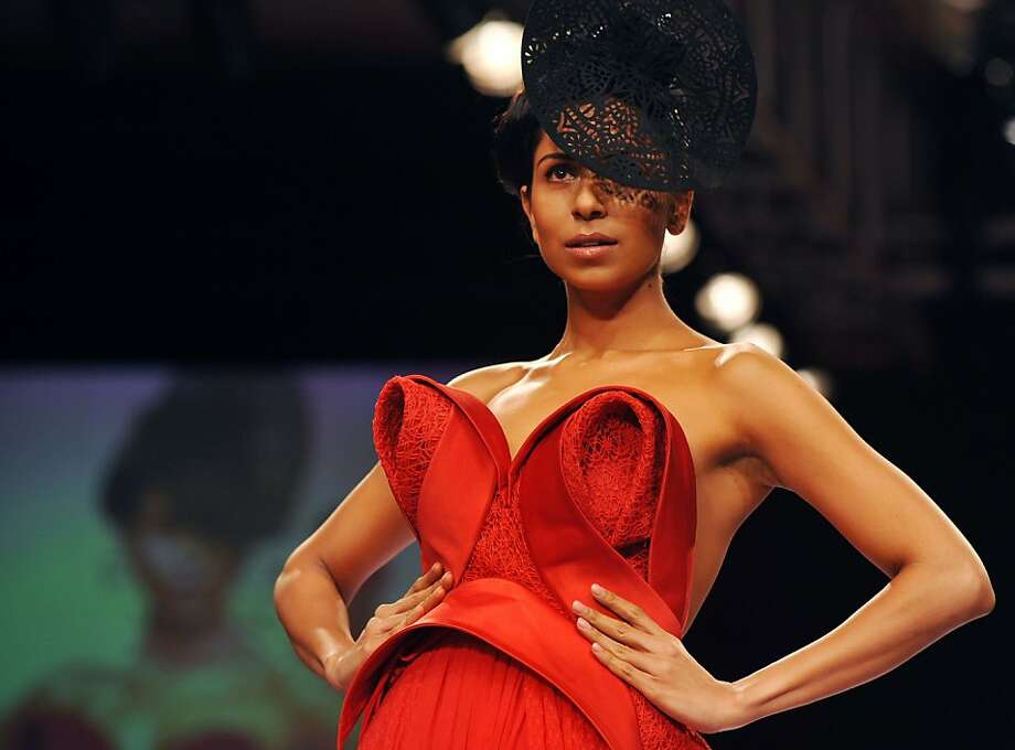 How do you Lakme now?A model showcases a pointy creation by designer Jatin Varma during the first day of the Lakme Fashion Week in Mumbai. Photo: Strdel, AFP/Getty Images