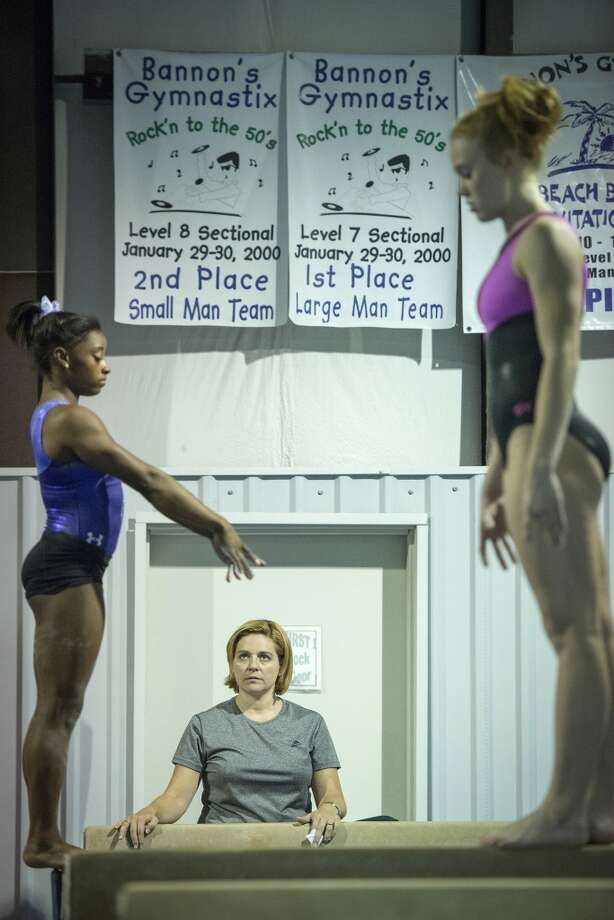 Coach Aimee Boorman watches as Simone Biles, right, trains at Bannon's Gymnastix. Photo: Smiley N. Pool, Houston Chronicle