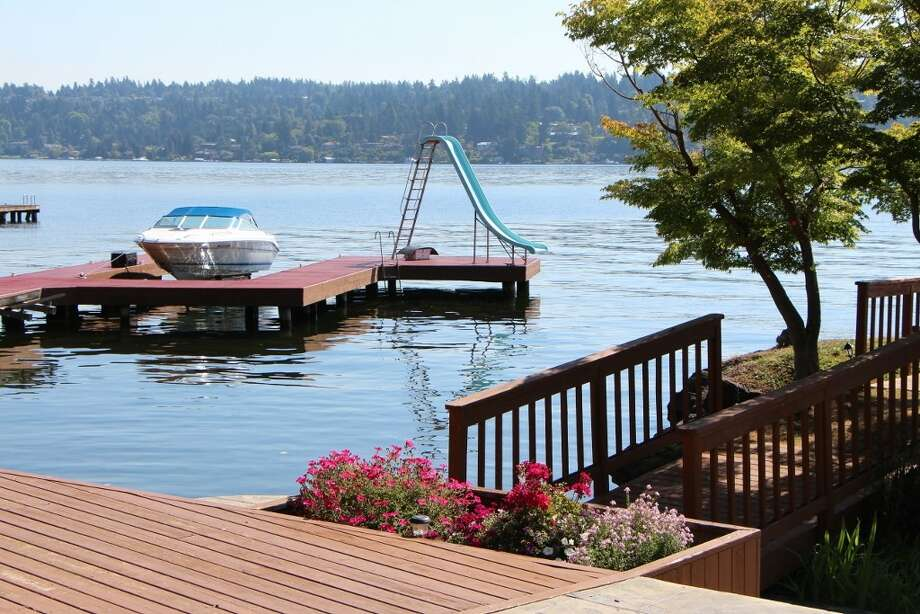Dock of 7326 Bowlyn Place S. It's listed for $7.2 million. Photo: Courtesy Brad Vancour, Realogics Sotheby's International Realty