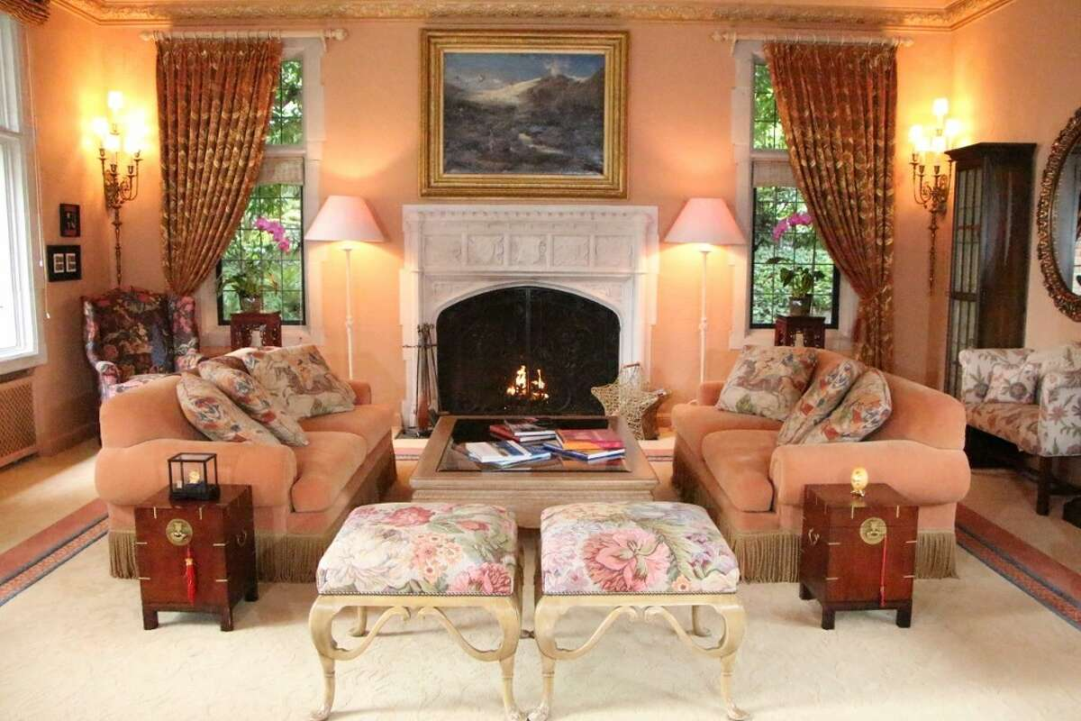 Living room of 7326 Bowlyn Place S. It's listed for $7.2 million.