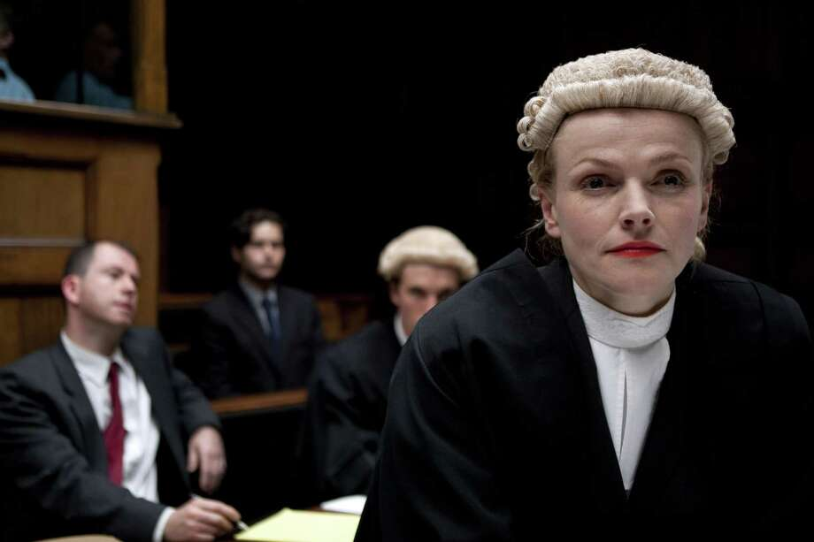 "Silk Episode 1 Sunday, August 25, 2013 9-11pm ET on MASTERPIECE on PBS   Barrister Martha Costello (Maxine Peak) is under pressure to win cases as she aspires to rise to the rank of Queen's Counsel, also known as ""taking Silk"". In an effort to boost her Silk application, Martha takes on challenging  cases to prove her merit ? and an ambitious student pupil (Tom Hughes). That Martha's opposing counsel in a major case is Clive (Rupert Penry-Jones), a rival barrister in her chambers, complicates matters further. Will Martha be able to satisfy both the personal and the professional demands placed on her?  Shown: Maxine Peak as Martha Costello  BBC 2011 for MASTERPIECE / © BBC 2011"