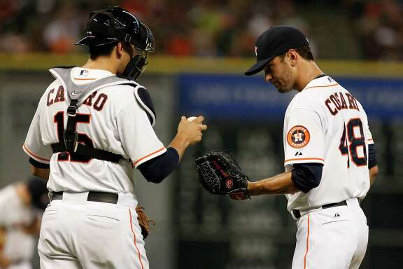 Astros catcher Jason Castro, left, and pitcher Jarred Cosart have names that are anagrams of each other.